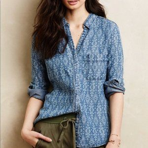 Holding Horses Chambray Ikat Button Down